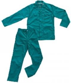 green acid resistant overall