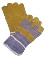 yellow chrome pigskin candy gloves