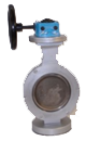 Double butterfly valve